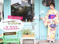 浅草レンタル着物和楽:浅草駅徒歩1分。インスタ映えする着物と髪のセットで2555円から!