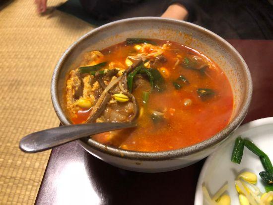 金楽のユッケジャンスープ