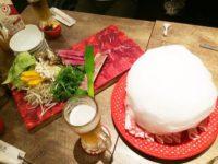 めり乃:裏秋葉原で羊肉&タンしゃぶしゃぶ食べ放題を!綿あめが乗るラムしゃぶとは?!