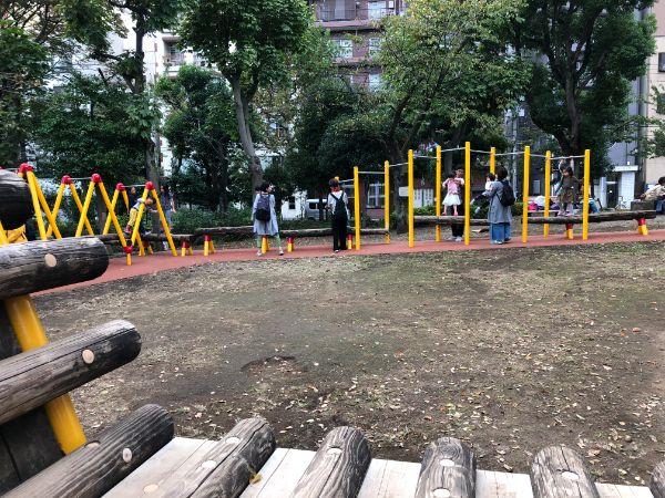 隅田公園内遊具コーナー
