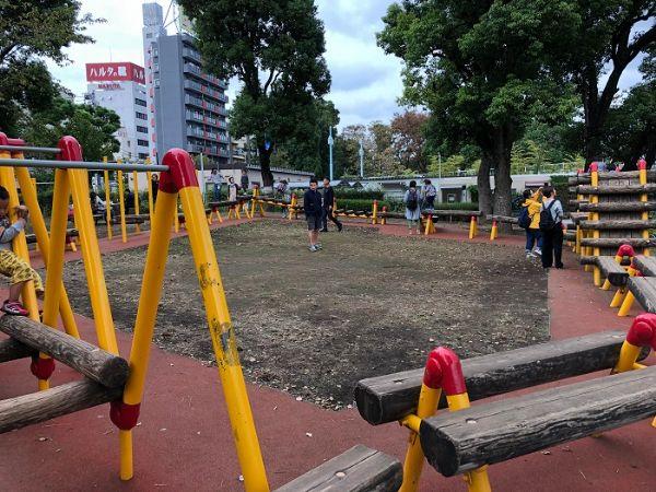 隅田公園内アスレチック