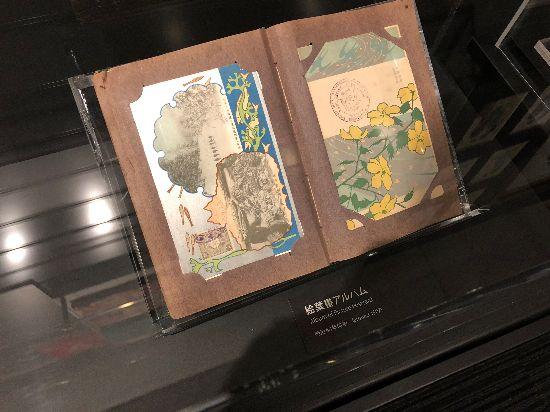 絵葉書アルバムの展示