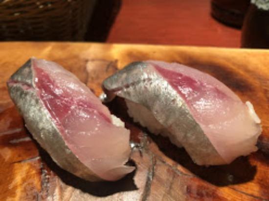 シマアジの鮨